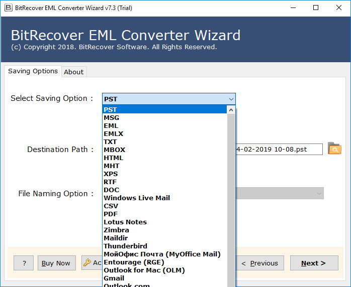 Import EML to Outlook 2019