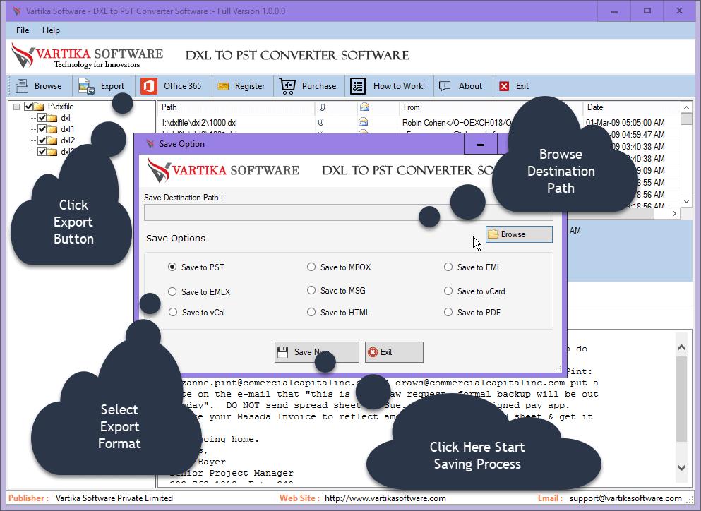 DXL to PST Converter image
