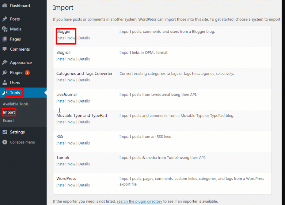 Import The Content To WordPress