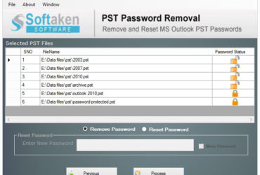 pst password removal