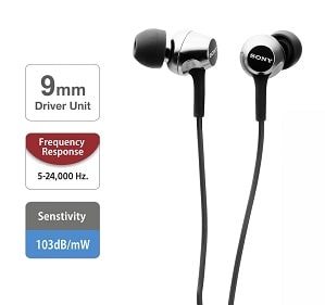 Sony MDR-EX155 is Best Earphones under 1000