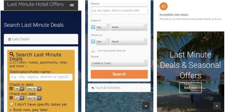 Last Minute Hotel Offers App Screenshot
