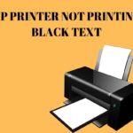 Hp printer not printing black text