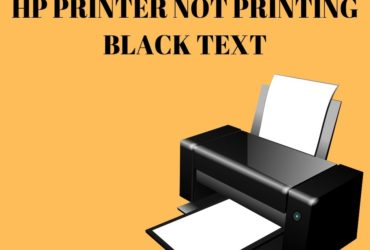 Hp printer not printing black text