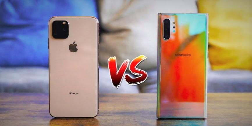 iPhone 11 Pro vs Samsung Galaxy note 10