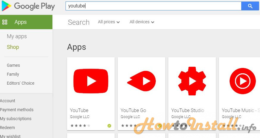 How To Install YouTube On Android step 3
