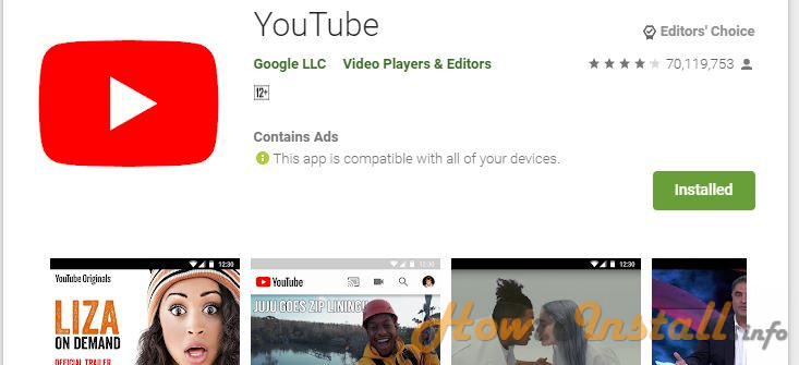 How To Install YouTube On Android step 4