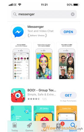 How To Install Messenger On iPhone step 2