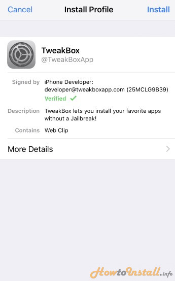 How To Install TweakBox in iPhone step6