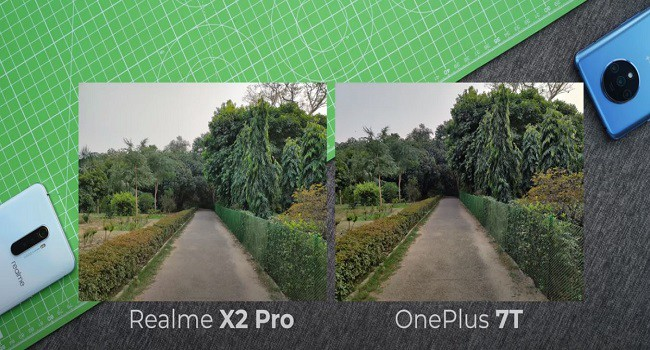 RealMe X2 Pro vs OnePlus 7T Day time camera photos