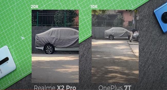 RealMe X2 Pro vs OnePlus 7T Portrait mode camera photo
